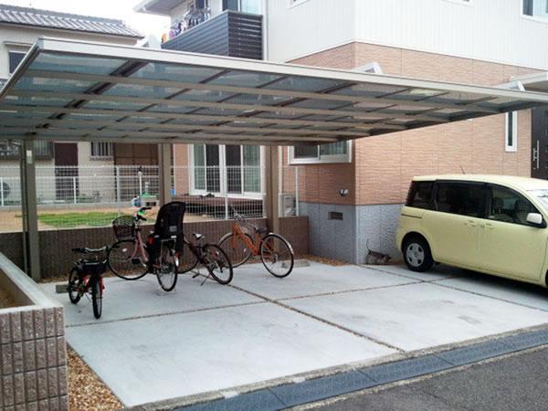 大阪府熊取町で施工したカーポート01