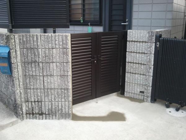 大阪府堺市でのブロック・門扉工事