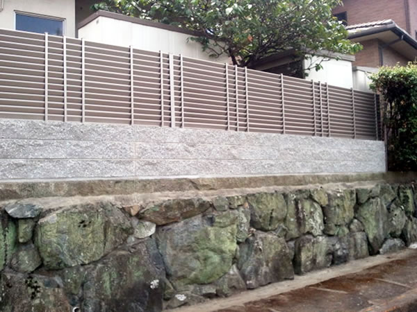 大阪府河内長野市でのブロック・フェンス工事