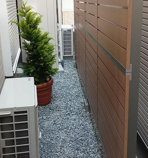 大阪府八尾市で施工した目隠しフェンス