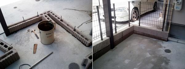 大阪府寝屋川市でリブブロック・フェンス工事