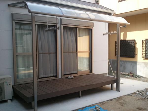 大阪府大阪市にて施工した大型カーポート02