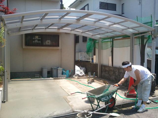 河内長野市でカーポート工事