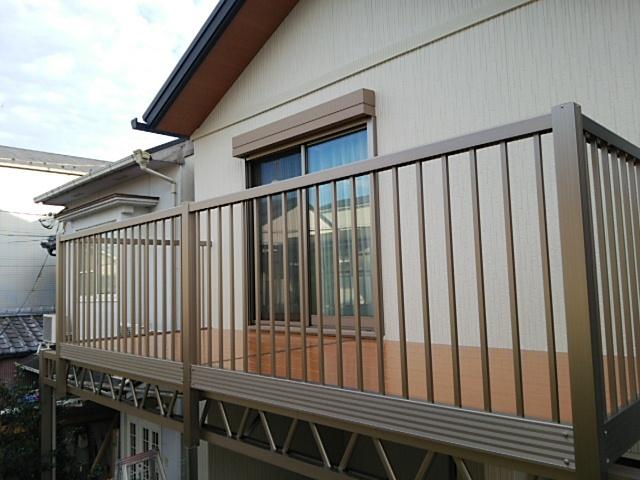 京都府でバルコニー工事